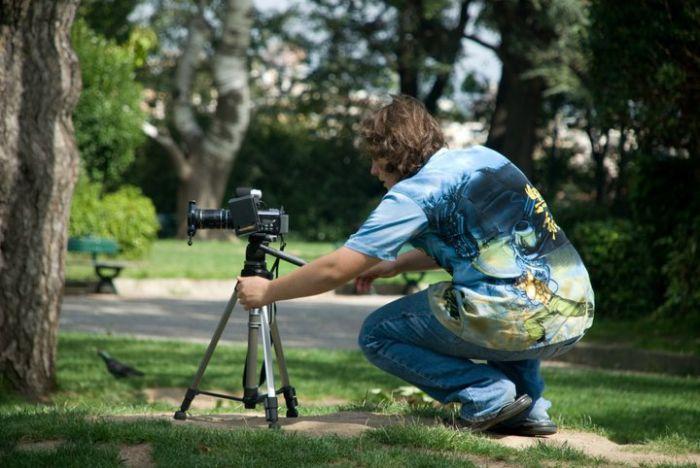 sur le tournage pour ''le casting''