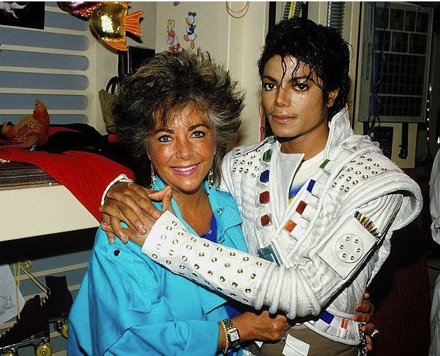 Michael Jackson et Élisabeth Taylor