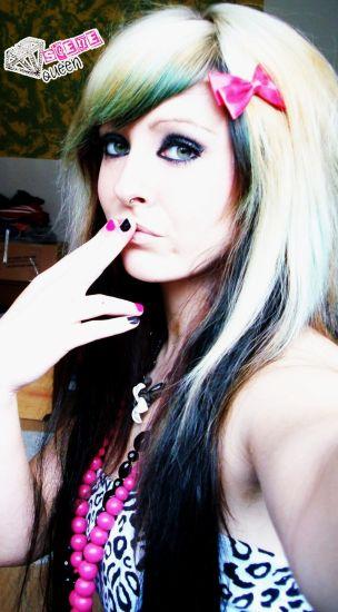 bibi barbaric, scene girl with blonde hair from germany