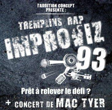 """Affiche Officiel du Tremplin """"IMPROVIZ'93"""""""