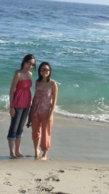 En californie avec ma tante sur Laguna beach!!