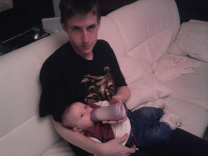 moi et ma niece quand elle avais 2 ou 3 mois