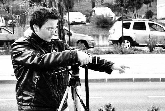 moi sur le tournage du porte-bonheur