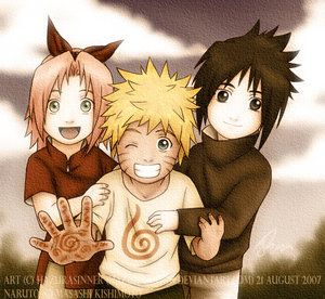 Naruto,Sakura et Sasuke petit