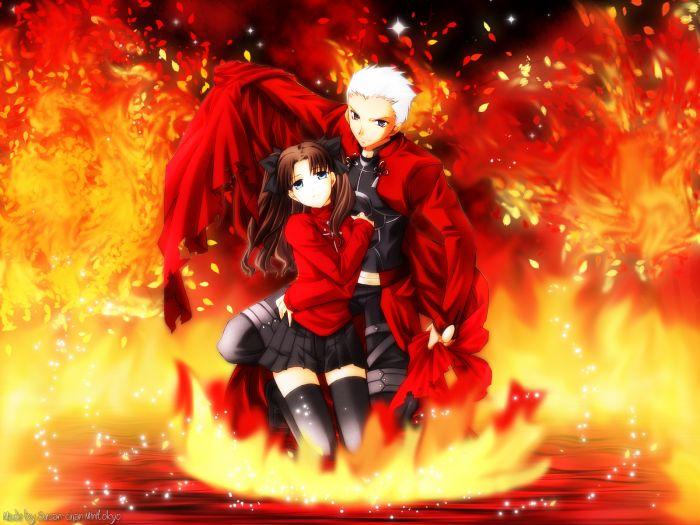 les flames de l'enfer