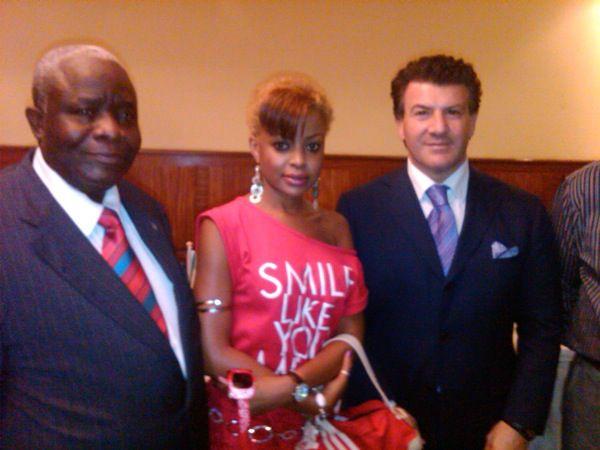 Avec l'ambassadeur de la RDC et le Prés. de la CC d'Italie