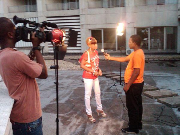 Lors du tournage samedi 22 janvier du spot Okapi Awards