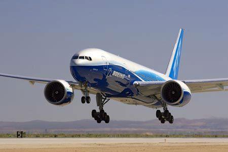 777-200 LR (long range) aux usines de boeing à everett