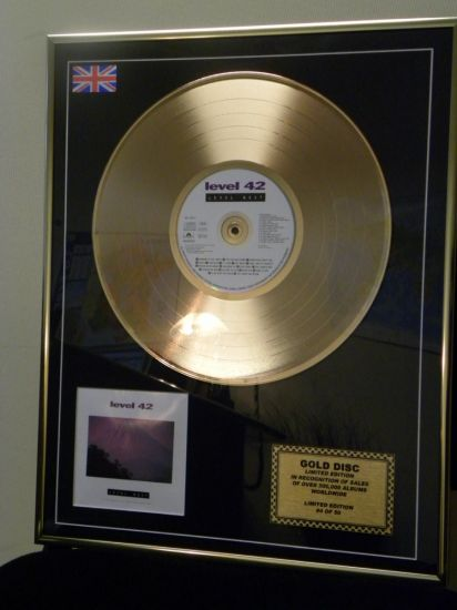 "The LEVEL 42 "" LEVEL BEST "" Gold disc"