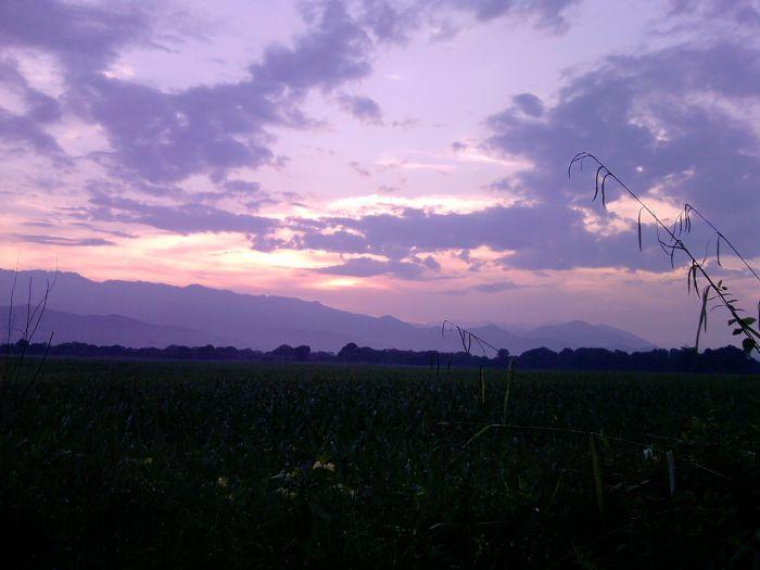 Corse, vu du camping le soir