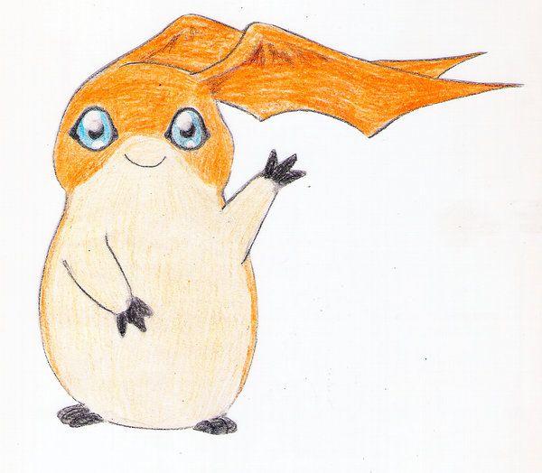 """: Patamon says """"Hi"""" : <3"""