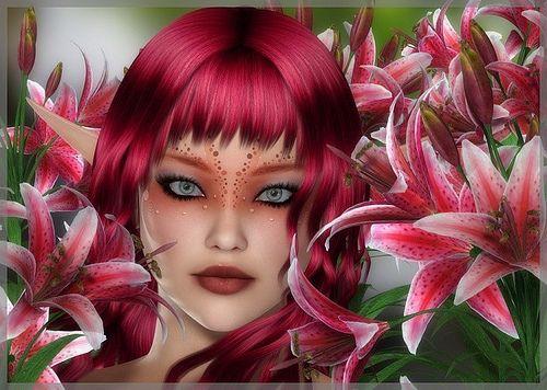elfe rose fushia