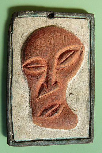 très beau masque guerrier TIKAR en bois-NORD OUEST-CAMEROUN.