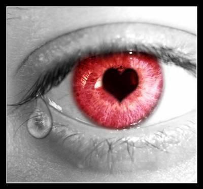 oeil rouge ki pleure