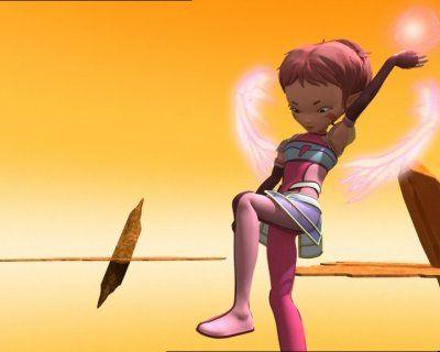 aelita avec ses aile