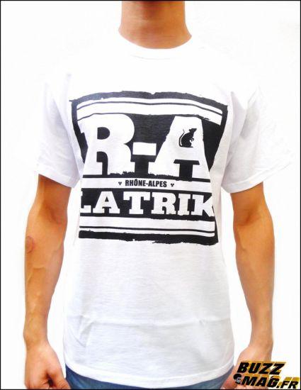 Tshirt R.A. (RHÖNE ALPES) LA TRIK BLANC
