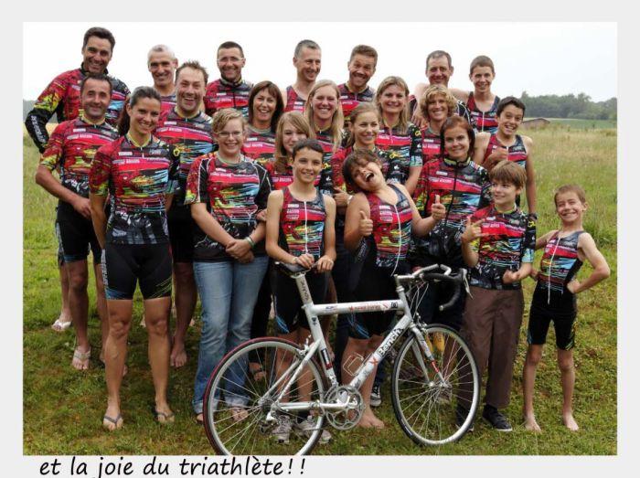 la joie du triathlete