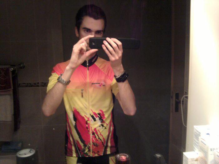 En mode tenue cycliste ^^