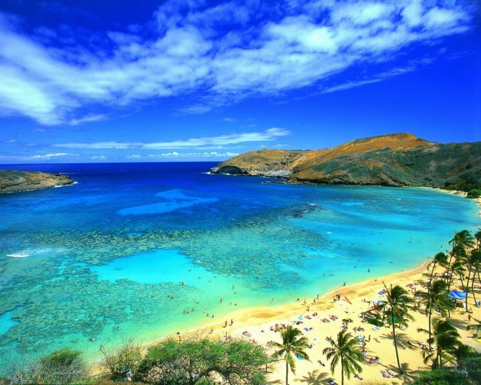 Un lagon d'Hawaii