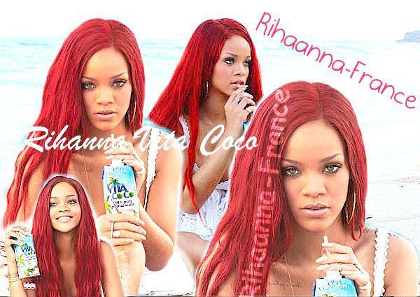 "Rihanna egérie de ""VITA COCO"""