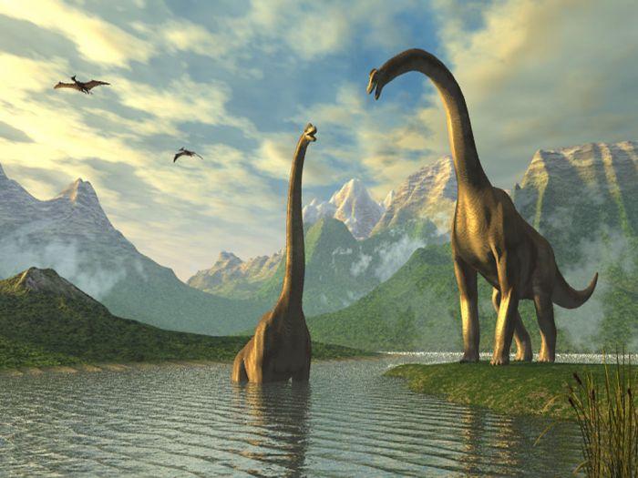 duo de brachiosaurus