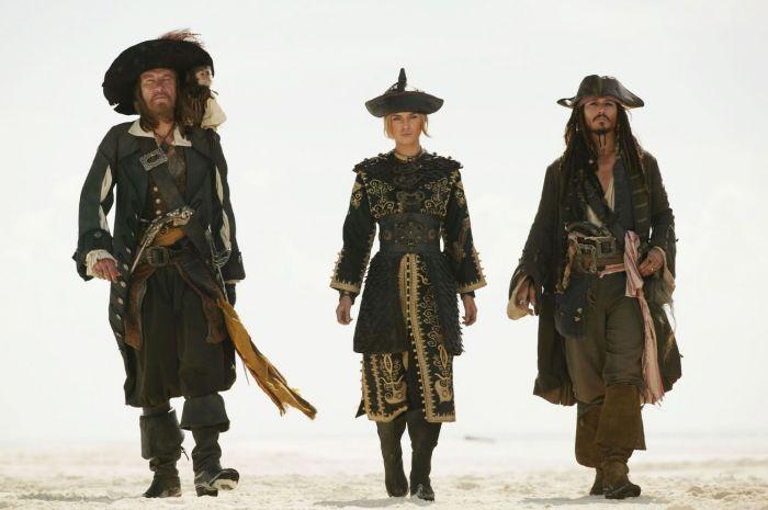 Barbossa , Elisabeth and Jack