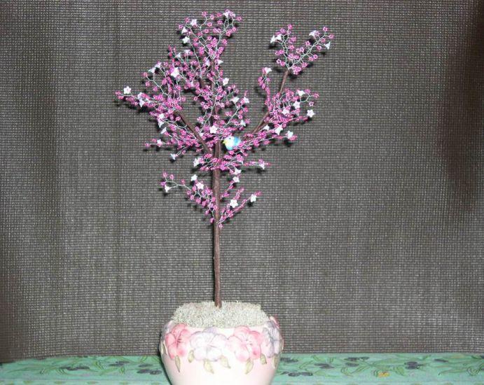arbre rose pour un collègue