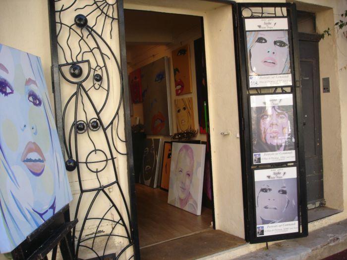 peinture de BB à St Tropez
