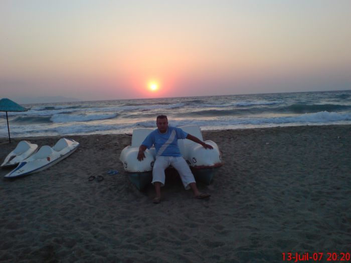 moi et le couché du soleil