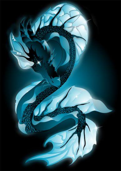 Le timide dragon d'eau, il est vraiment majestueux.