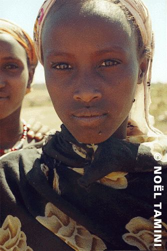 femme borana (oromo somali) dans la brousse