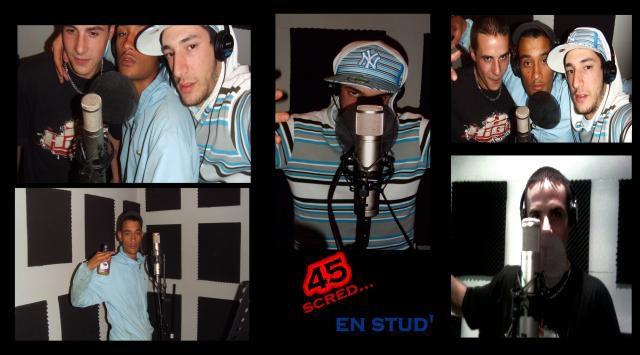 montage de sa1 45 scred en studio