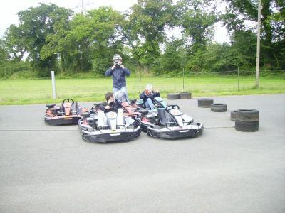 une sortie karting