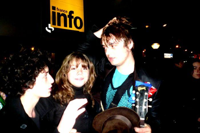 Peter Doherty, Aurélien et Moi devant La Maison de la Radio.