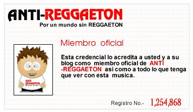 anti regaeton