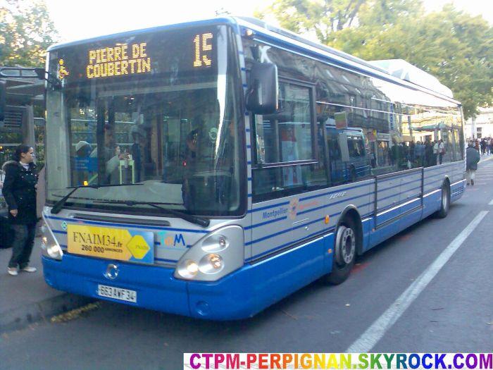 Irisbus Citelis 12 GNC du réseau Tam (Montpellier)