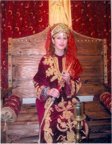 traje oficial de una princesa sultana Turca