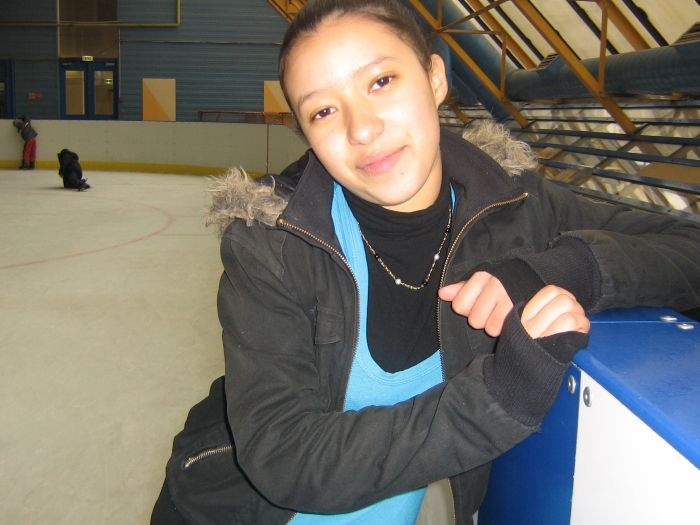 mylene a la patinoire