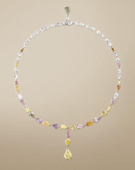 Collier Van Cleef & Arpels (diamants de couleurs)