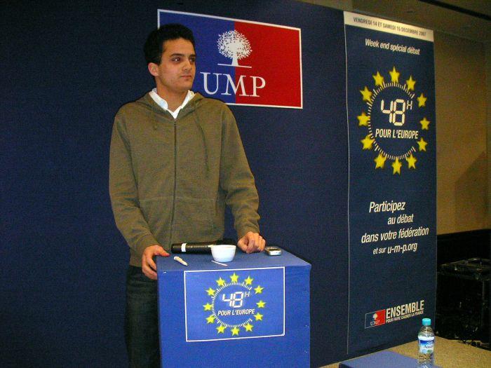 moi au débat sur l'Europe le 15 décembre 2007 à l'UMP
