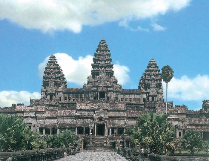 Temple Angkor Watt un pay riche en culture detrui par dé con