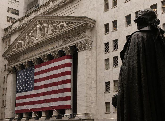 NYSE ( New York Stock Exchange ) Wall Street, Manhattan.
