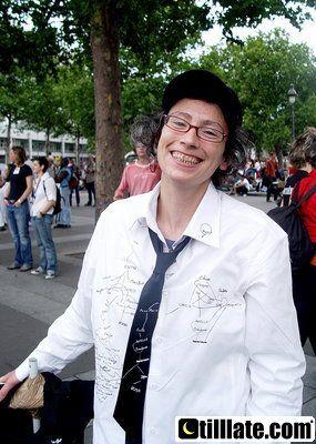 Sarah, une amie de Paris lors de la Gay Pride 2007