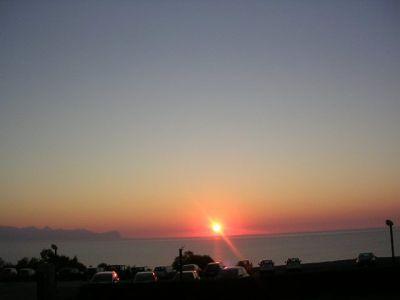 coucher de soleil....