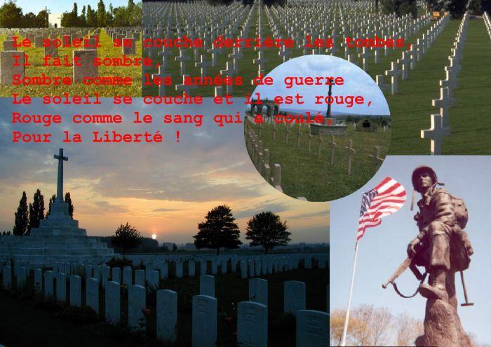 le soleil, la guerre, le sang et la Liberté