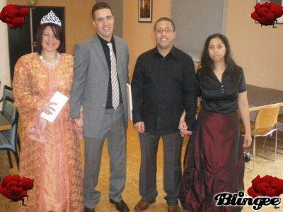 moi , mon mari avec ma belle soeur et mon beau frere !!