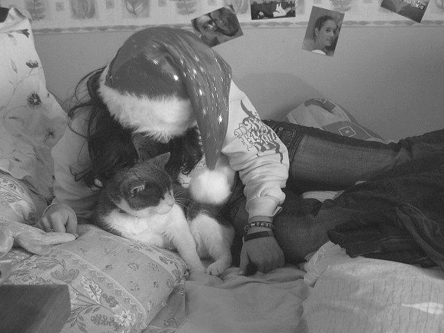 Chez ma Femme avec son chat ^^