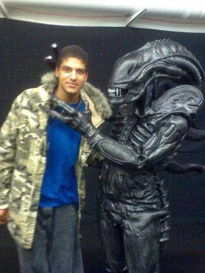 moi avec l'alien