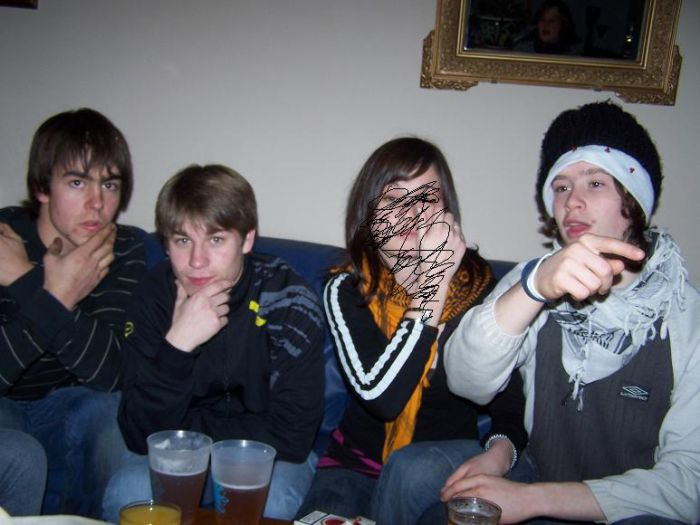 Ludo, Brice, Moi; et Totof .
