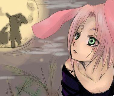 Je me demande ce qu'elle regarde....... sasuke ;)